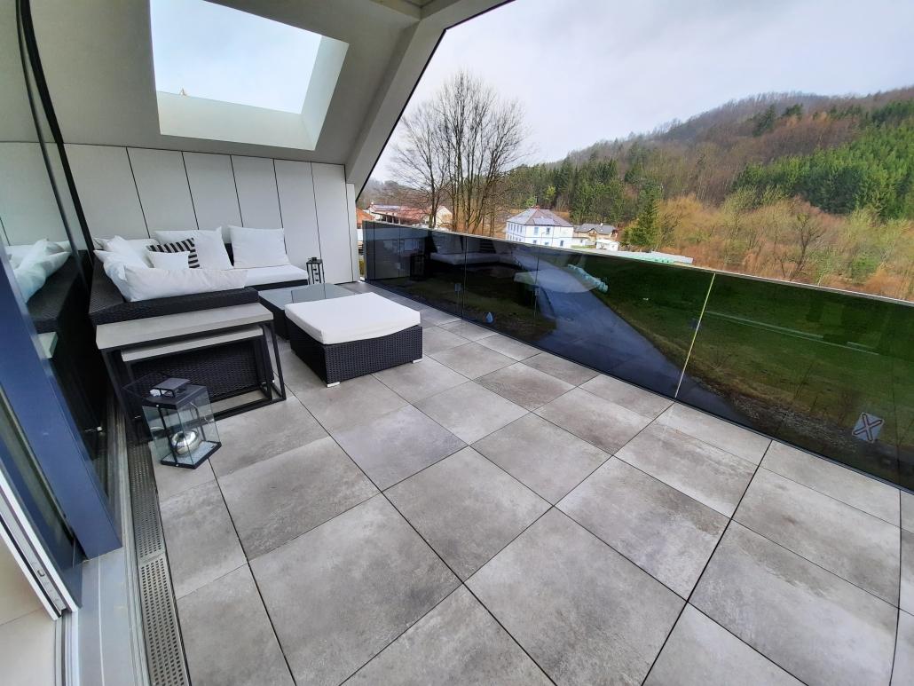 Bodenplatten Terrasse Feinsteinzeug Warm Stone Compact